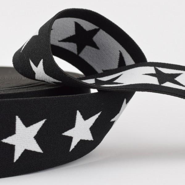 Gummiband Sterne 40mm schwarz
