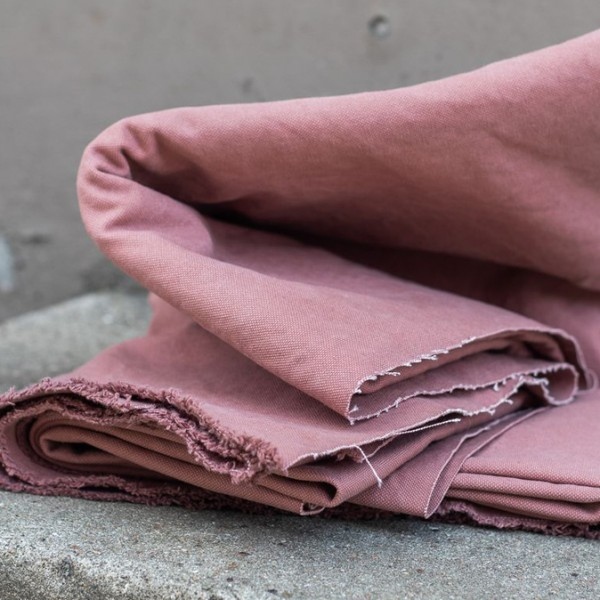 HEAVY WASHED CANVAS, 17 oz - Pale pink