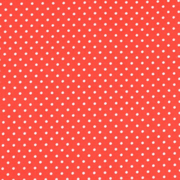 Baumwolle Punkte rot, öko tex standard 100