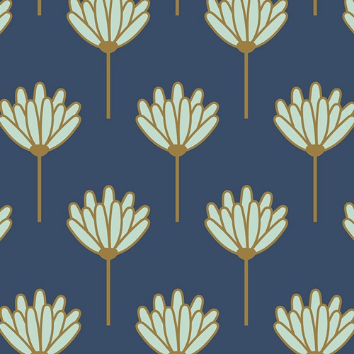 Jersey Art Gallery Fabrics blush Floret honeydew