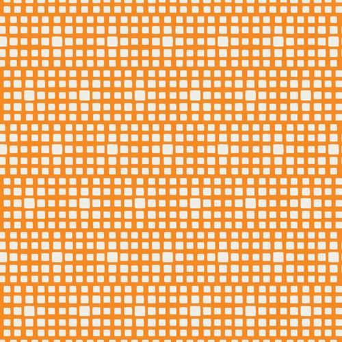 Baumwolle Squared Elements - Mandarin