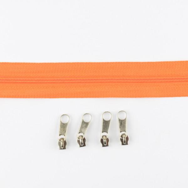 Endlos-Reißverschluss orange