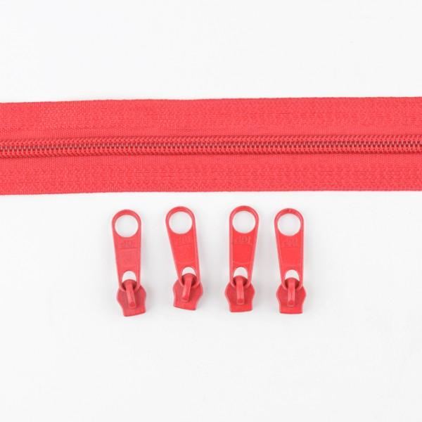 5mm Endlos-Reißverschluss rot