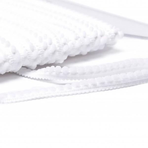 Pomponborte mikro online günstig kaufen weiß