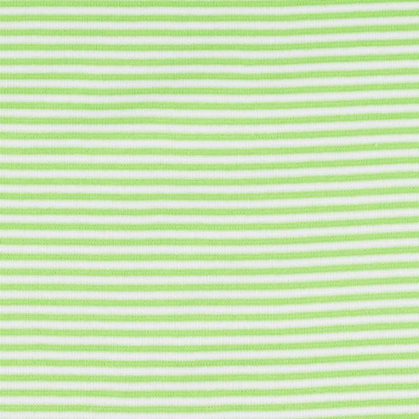 Bündchenware hellgrün/weiß