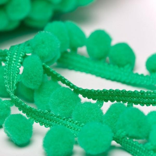 Pomponborte günstig online kaufen stoffe köln mittel grün