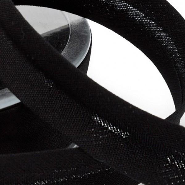 Schrägband uni - schwarz