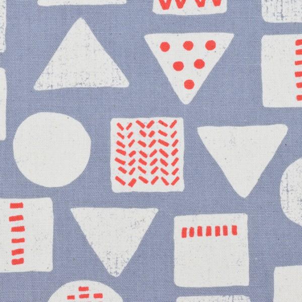 KOKKA Tréfle geometrisch grau/blau