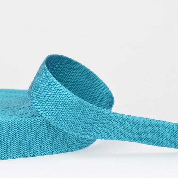 Polyester Gurtband - türkis 30mm