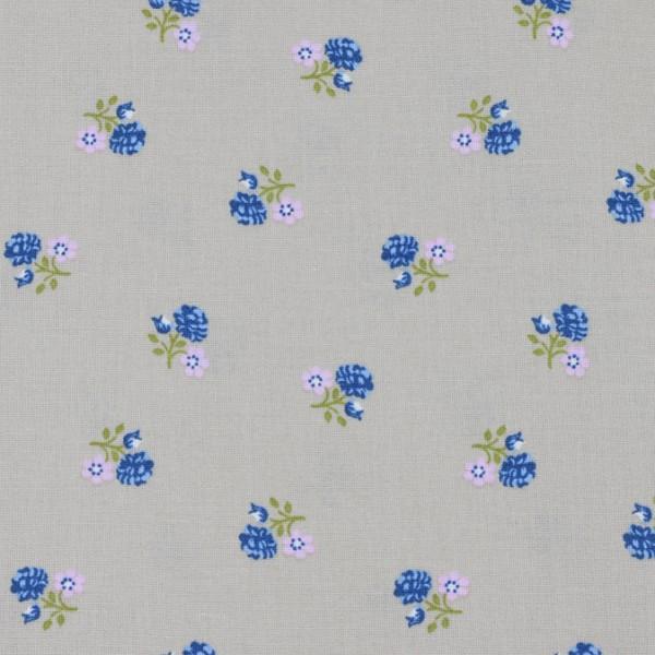 Baumwolle blaue Blümchen