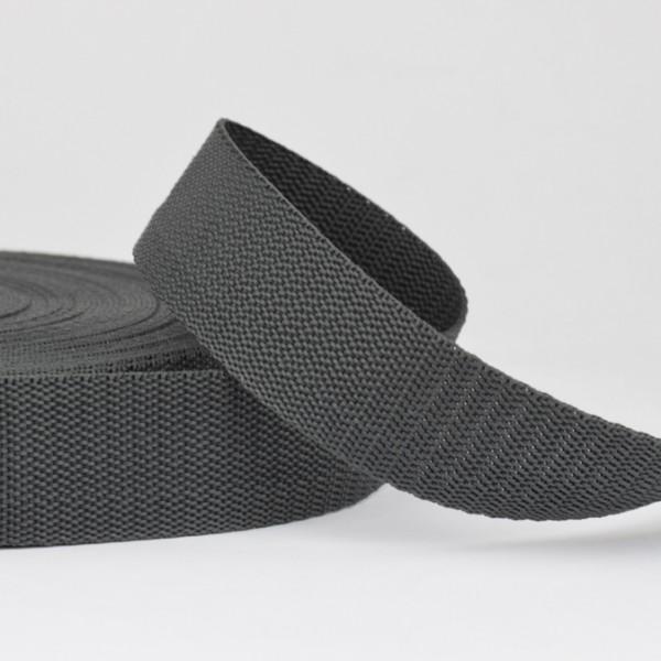 Polyester Gurtband - anthrazit 30mm