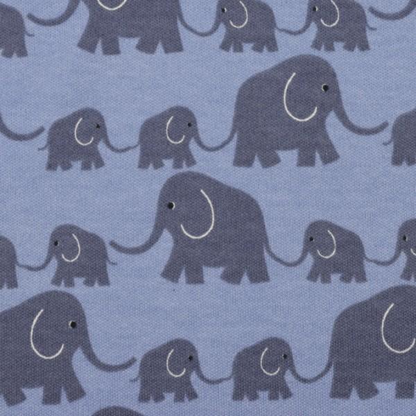 Westfalenstoffe Interlock-Jersey Elefanten blau