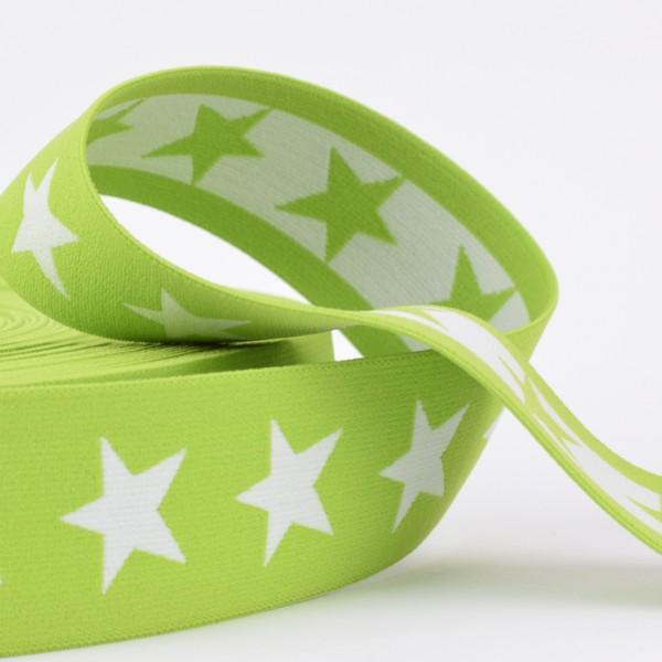 Gummiband Sterne 40mm grün