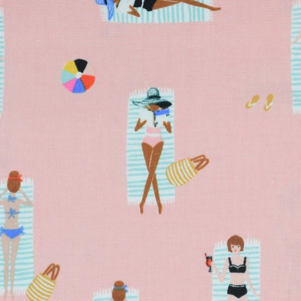 Cotton and Steel - Amalfi -Sun girls coral