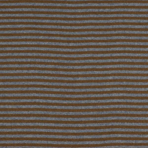 Bündchenware ringel braun/jeansblau , Öko Tex Standard 100