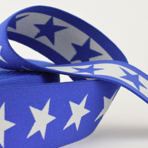 Gummiband Sterne 40mm blau