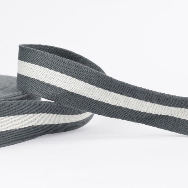 Gurtband - Streifen grau/natur