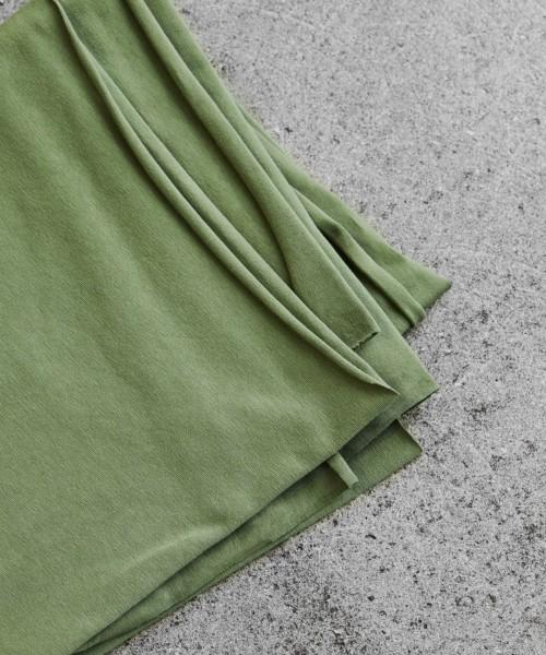 Organic Single Stretch Jersey Olive Green