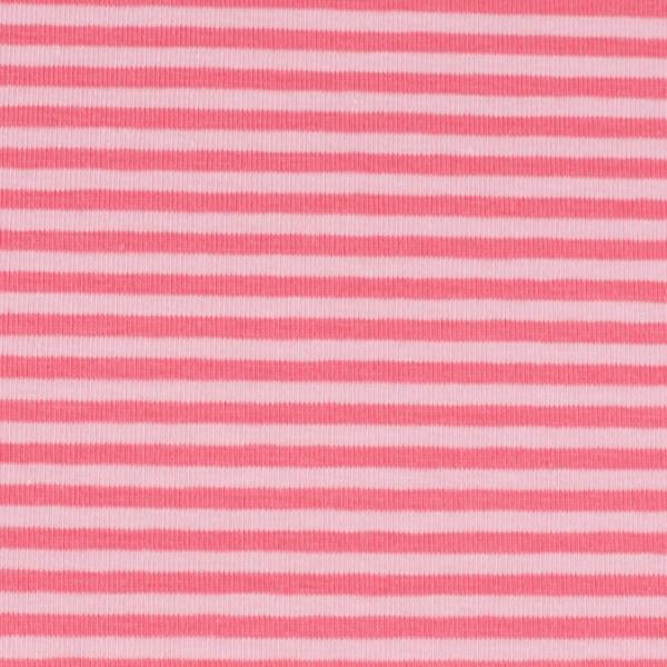 Jersey streifen rosa/pink, Öko Tex Standard 100