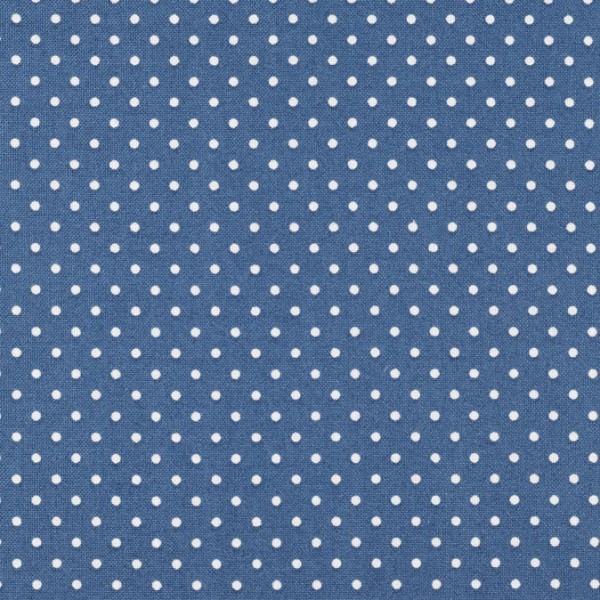 Baumwolle Punkte jeansblau, polkadots