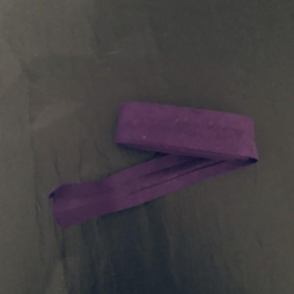 Schrägband uni lila