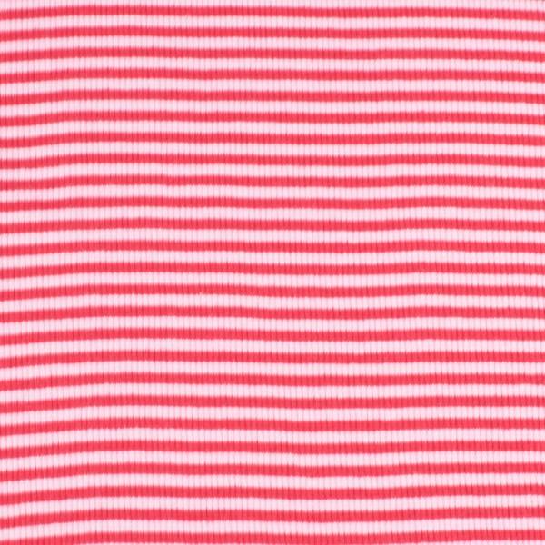Bündchenware ringel rot/rosa , Öko Tex Standard 100
