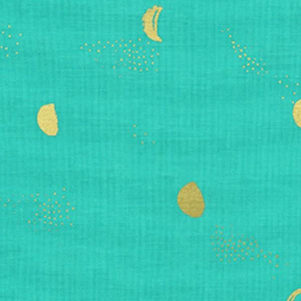 Cotton and steel - Santa Fe - Moon Phase Turquoise Metallic