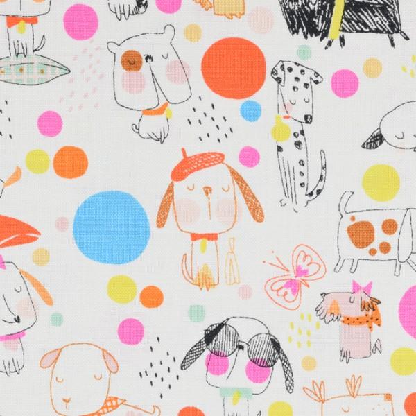 Alexander Henry puppy polka dot