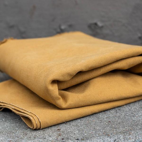 HEAVY WASHED CANVAS, 17 oz - Mustard