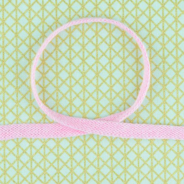 Baumwollkordel flach rosa