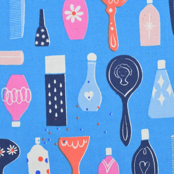 Cotton and Steel - Beauty shop - Melody Miller, Kamm, Schere, Shampoo, Fön, Spiegel