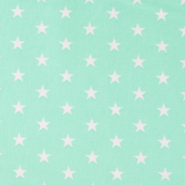 Sterne Baumwollstoff mint