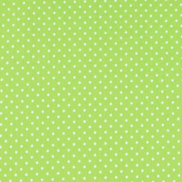 Baumwolle Punkte grün, öko tex standard 100