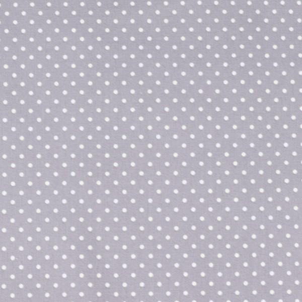 Baumwolle Punkte grau, öko tex standard 100