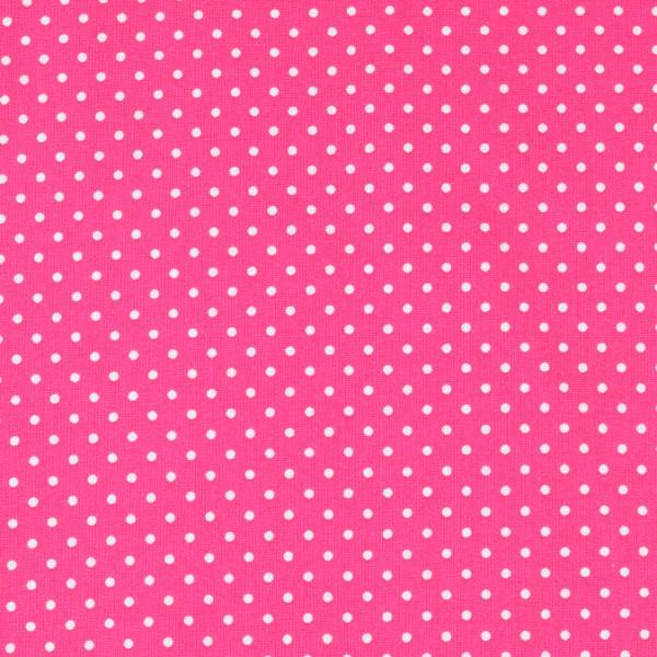 Baumwolle Punkte pink, öko tex standard 100