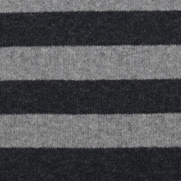 Strickstoff Lenn angeraut Streifen **made in Italy** anthrazit/grau