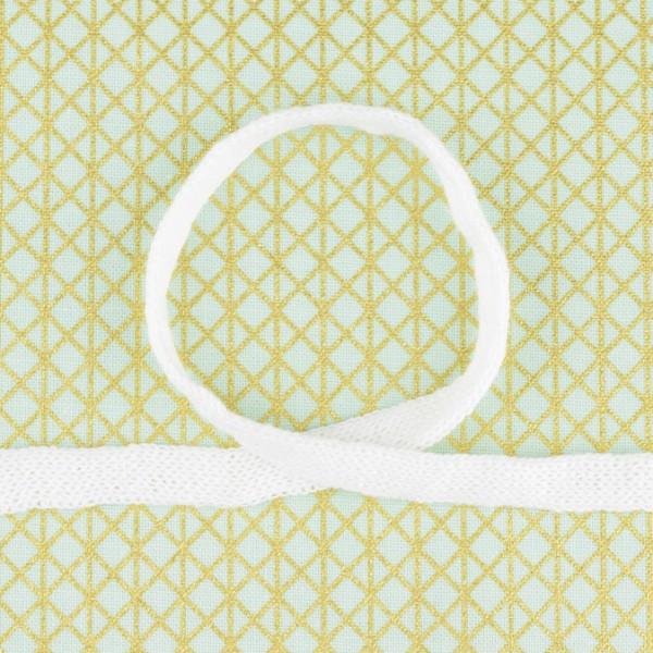 Baumwollkordel flach weiß