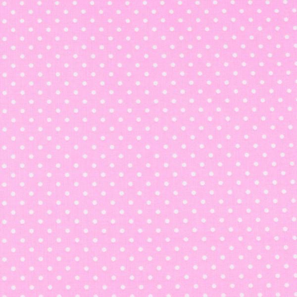 Baumwolle Punkte rosa, öko tex standard 100