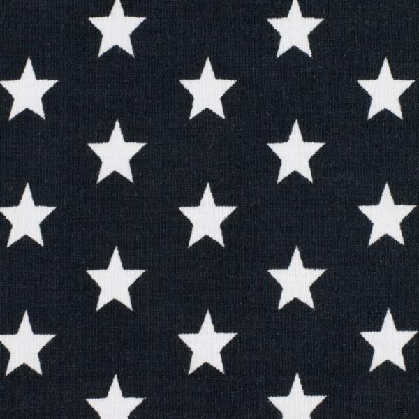 Jersey Sterne schwarz, Öko Tex Standard 100