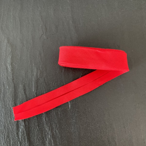 Schrägband uni rot
