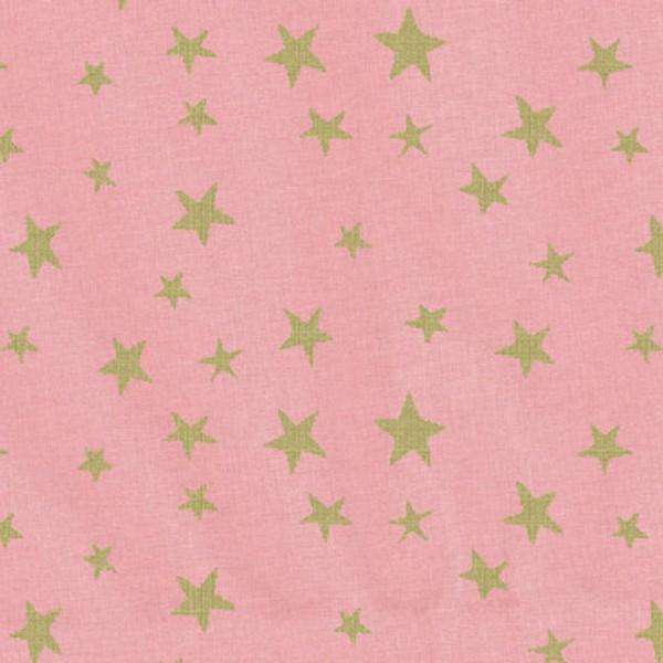 Westfalenstoffe Druckstoff Noël Sterne rosa gold