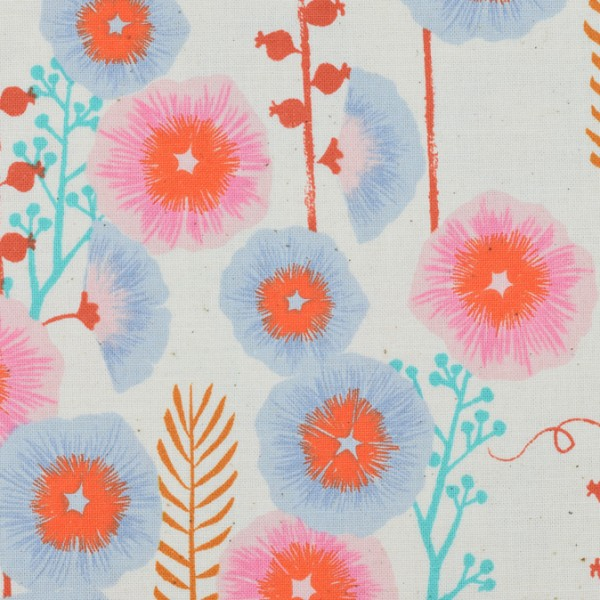 Cotton and Steel - Santa Fe - Hollyhocks Natural