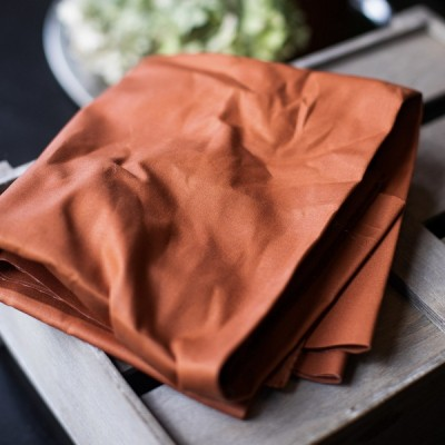 Dry Waxed Organic Cotton RUST