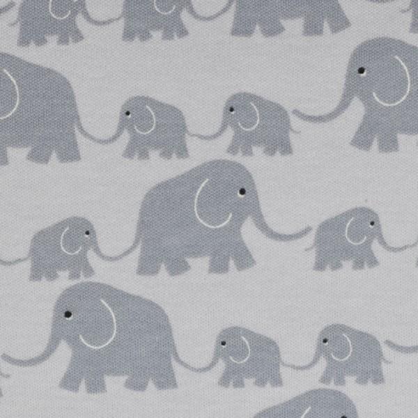 Westfalenstoffe Interlock-Jersey Elefanten grau