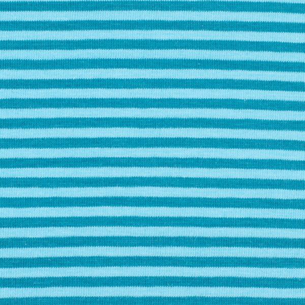 Jersey streifen blau/türkis, Öko Tex Standard 100