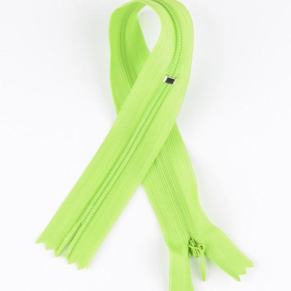Reißverschluss nahtverdeckt grün