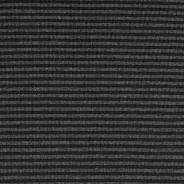 Bündchenware ringel schwarz/anthrazit , Öko Tex Standard 100