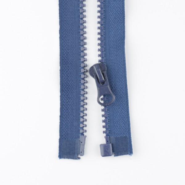Reißverschluss teilbar 55cm blau