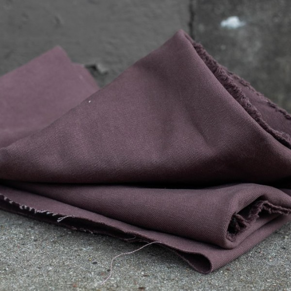 HEAVY WASHED CANVAS, 17 oz - Grape