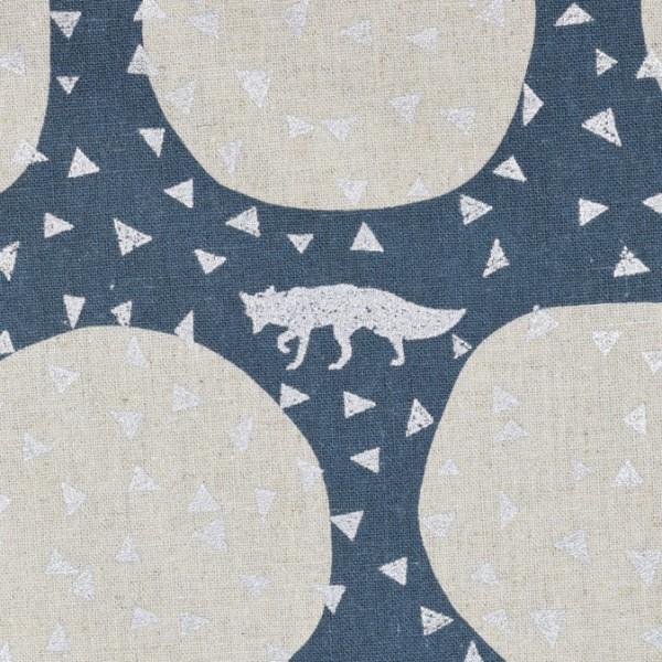 Echino for KOKKA Den in Slate blau/silber